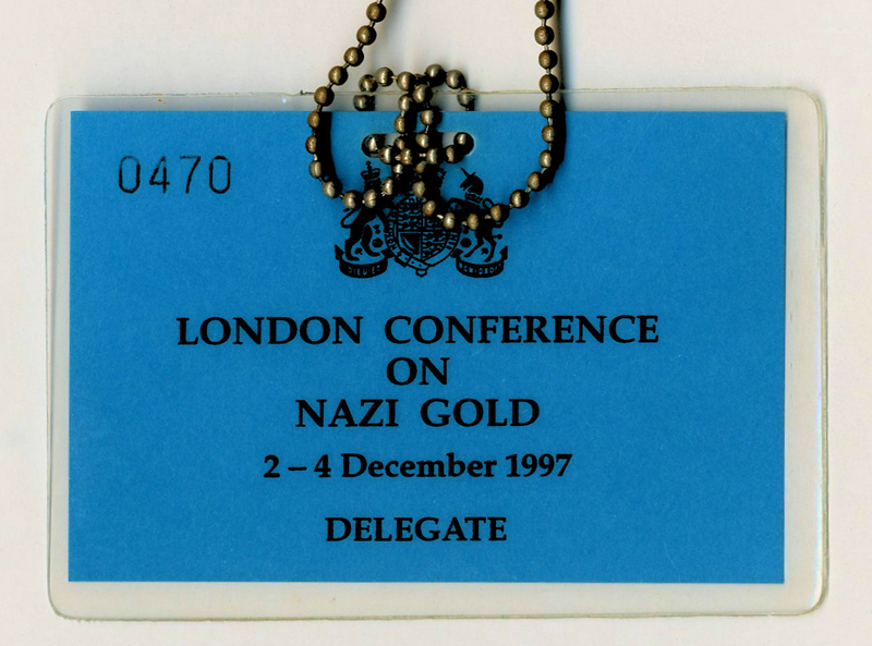 1997-12-02-04-nazi-gold-the-london-conference-delegates-badge