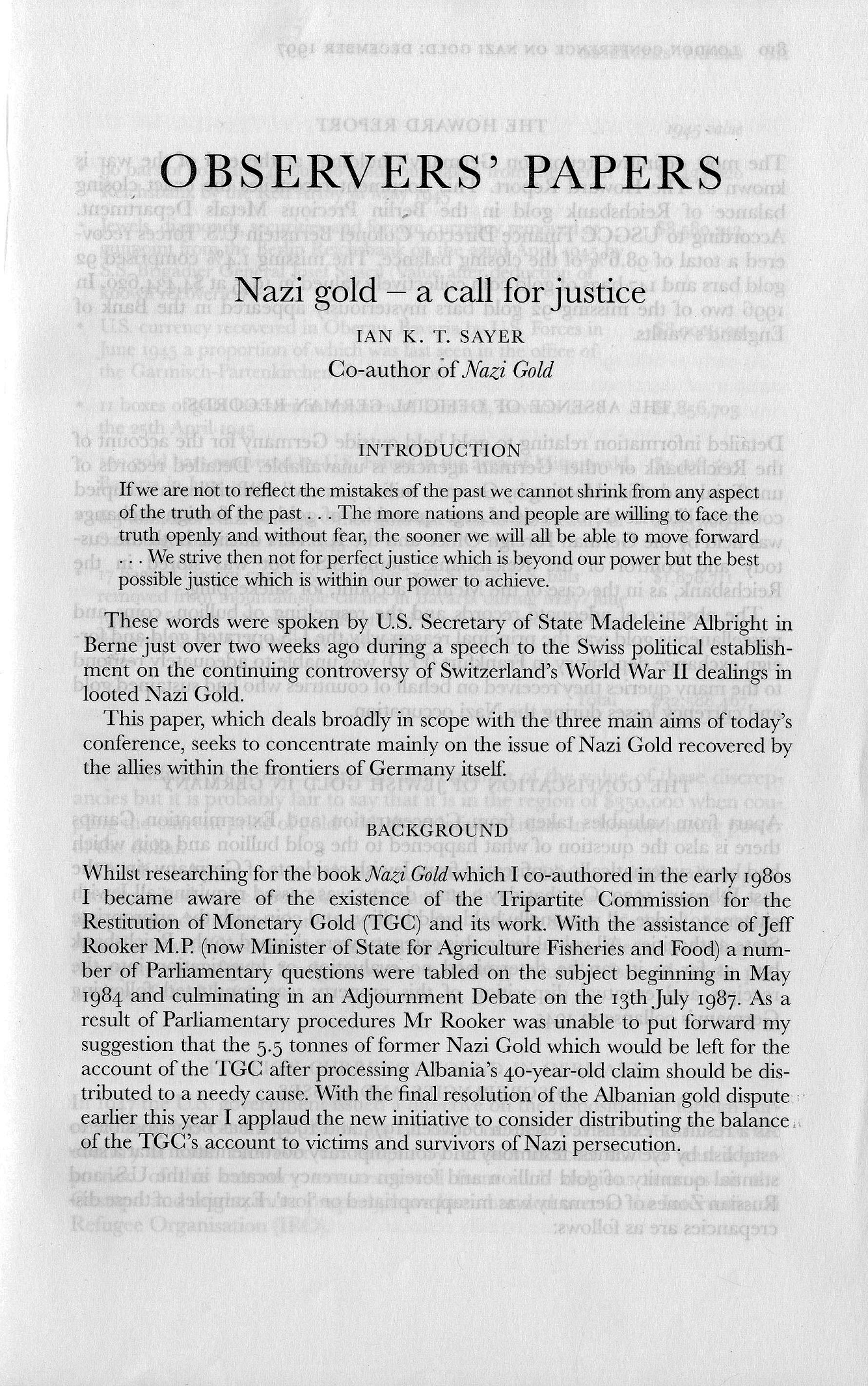 nazi-gold-london-conference-1997-observers-papers