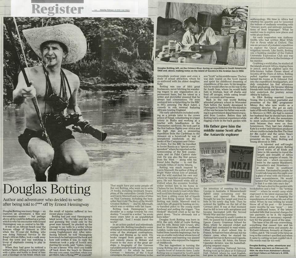 2018 03 24 The Times Douglas Botting Obituary